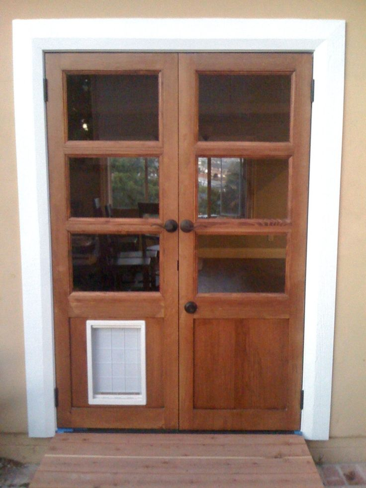 79 best images about for the home on pinterest swiss dot for French doors with dog door built in