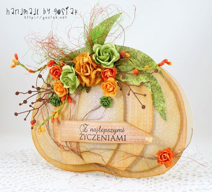 GosiaK scrap: Kartka w jesiennym kształcie
