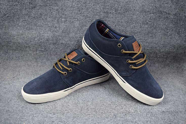 US 5-11  GLOBE ENCORE-2 Board Shoes dark blue Anti-Fur Street Shock-Absorbant Footwear Size Available