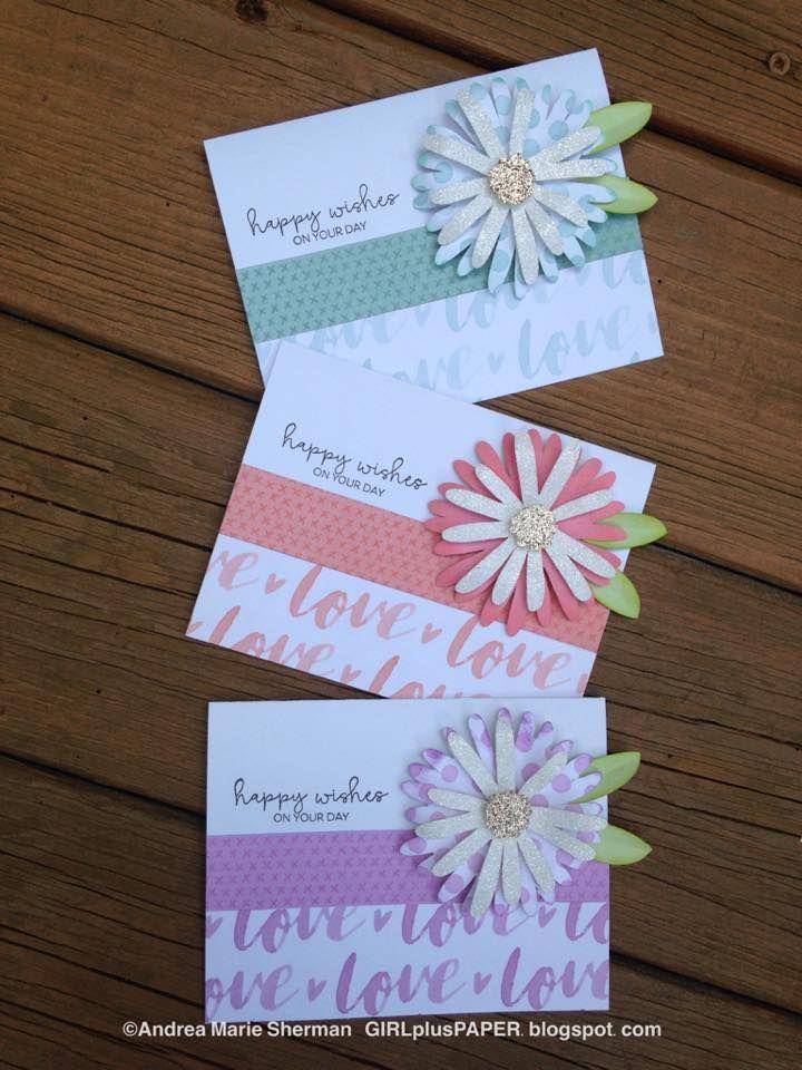 GIRLplusPAPER: CTMH Flower Market Crazy Daisy Happy Wishes Cards