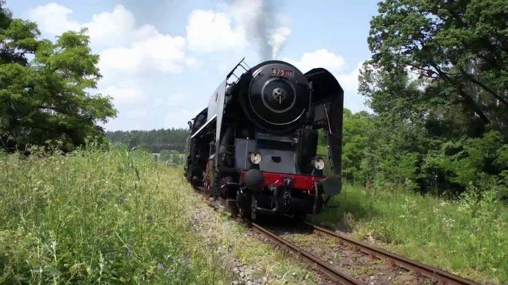 Parní lokomotiva řady 475.1 přezdívaná Šlechtična HD   , Czech Steam loc...