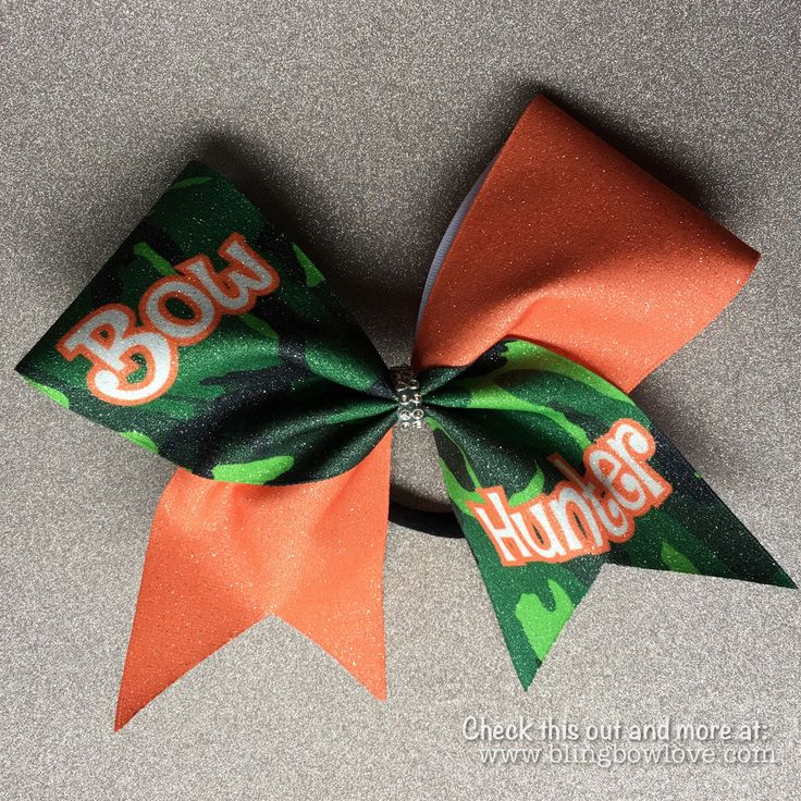 Bow Hunter Bow, Cheer Bow, Camouflage Bow, Glitter Bow