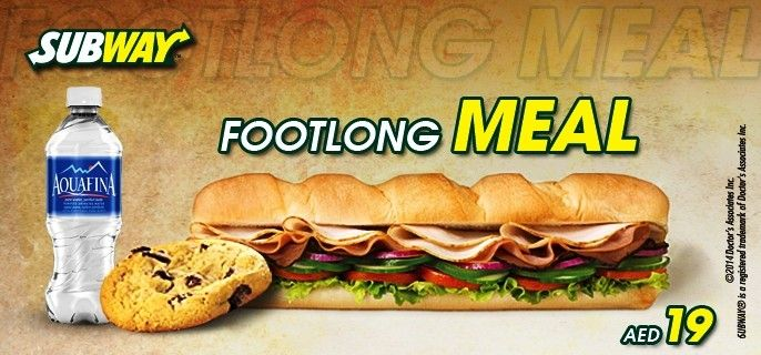 You are just one click away from a Footlong Meal of your choice for only AED 19 at Subway™, City Walk Al Wasl - FREE Delivery... #Dubai #UAE #Food #Dining  Buy here --> http://www.hitthedeals.com/dubai/today-s-deal/subway-footlong-meal-2.html