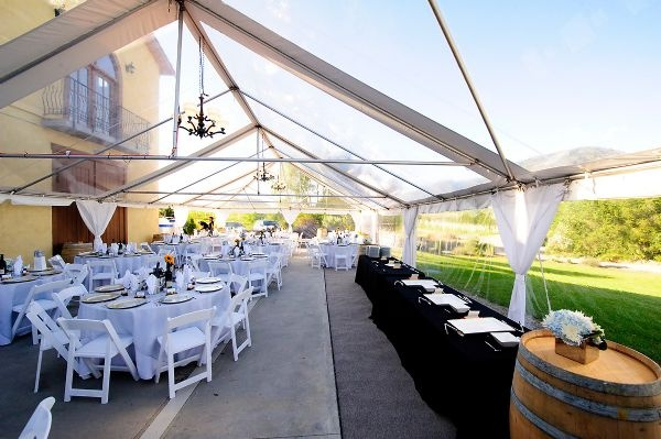30'X60' Clear tent at LaStella Winery in Osoyoos, BC