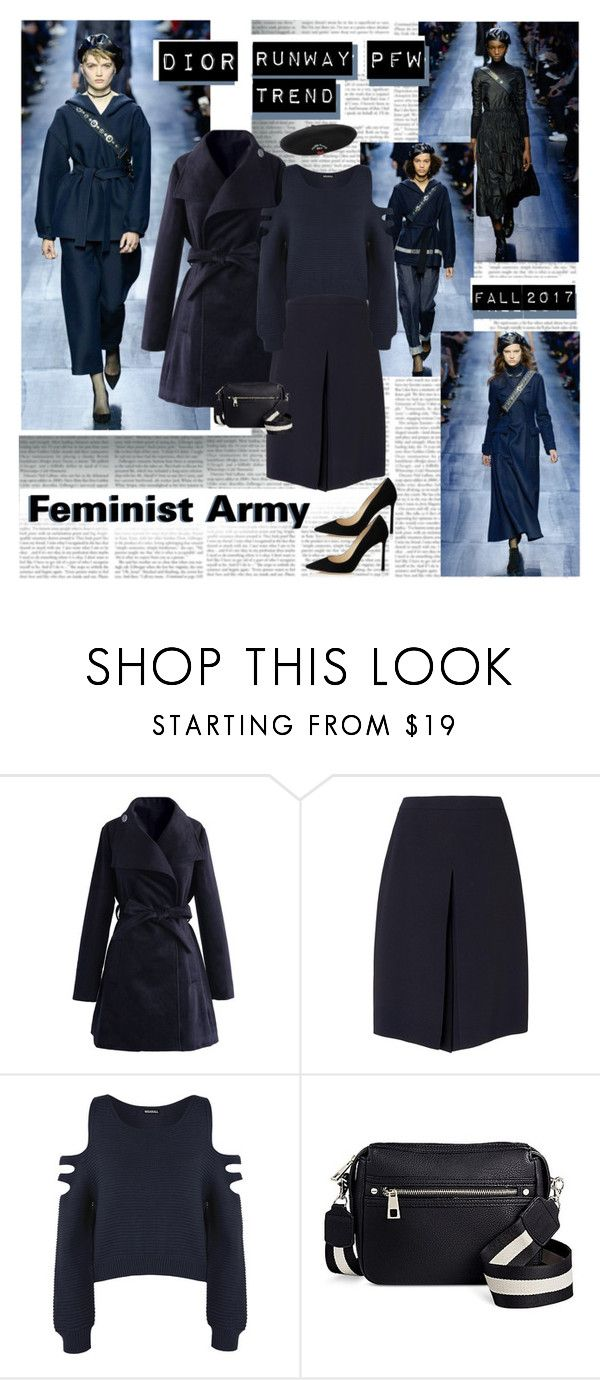 """""""PFW Fall2017 Dior Runway Trend Feminist Army"""" by stylepersonal ❤ liked on Polyvore featuring Christian Dior, Chicwish, L.K.Bennett, WearAll, Silver Spoon Attire, Dior, parisfashionweek, runwaytrend and fall2017"""