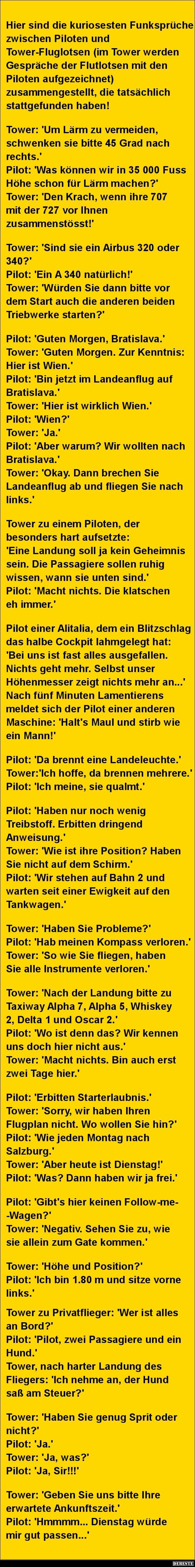 Hier sind die kuriosesten Funksprüche zwischen Piloten..