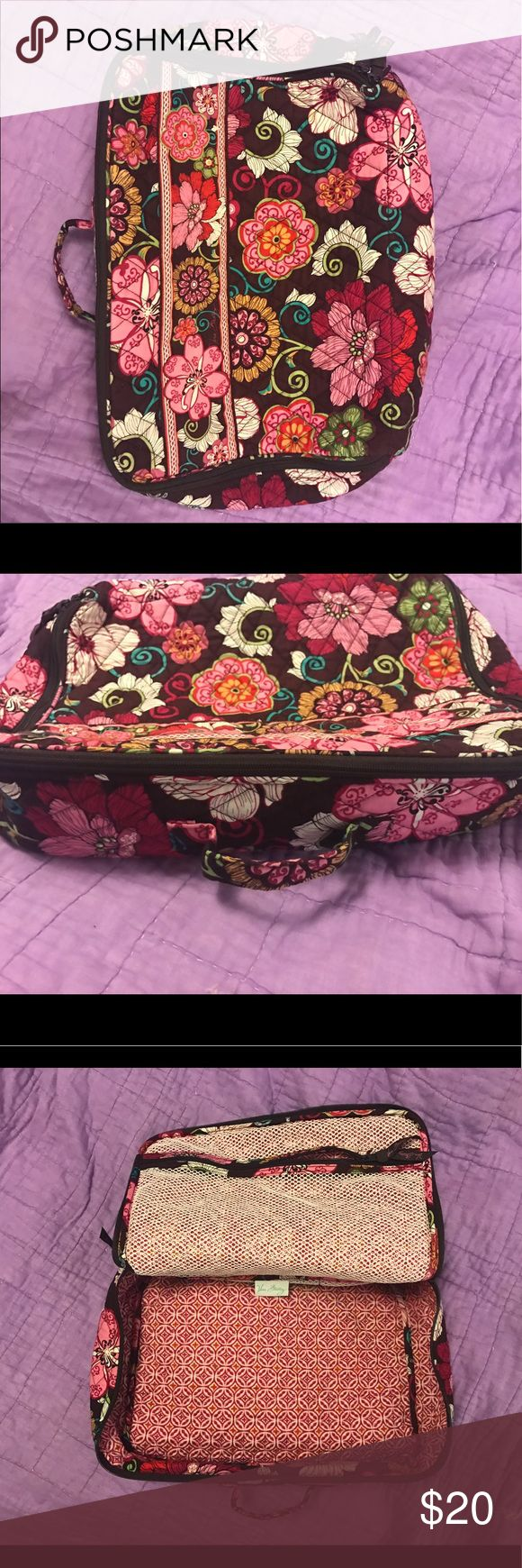 Vera Bradley Travel Bag This is a Vera Bradley travel zip bag. It has a lot of room, I used it for school. Handle on the side, zipper all the way around and a small zip pouch inside. Used, but great condition. Vera Bradley Bags Cosmetic Bags & Cases