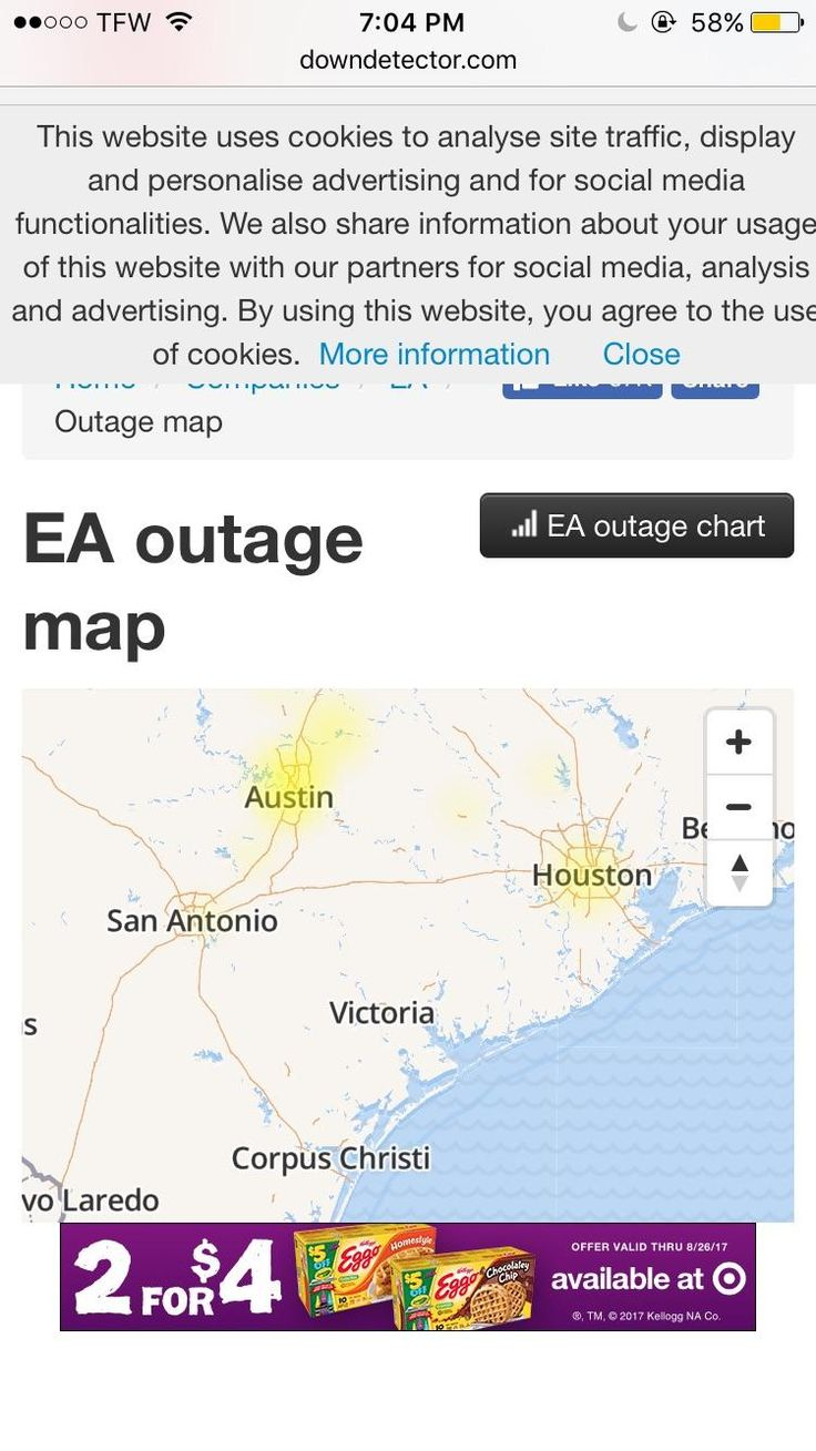 http://ift.tt/2vs0OCv someone please give me an answer to why it feels like the servers for battlefield have been down for at least a week in austin? i've been trying to play all week and i'm never able to connect?