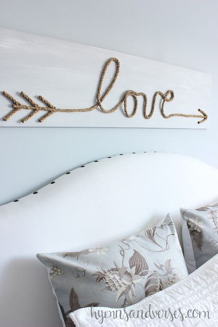 DIY Jute Rope Love Sign #lowesdiydays #hometalk