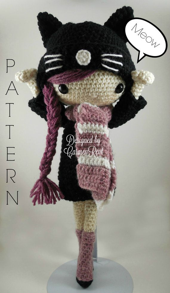 Miriam - Amigurumi Doll Crochet Pattern PDF                                                                                                                                                                                 More
