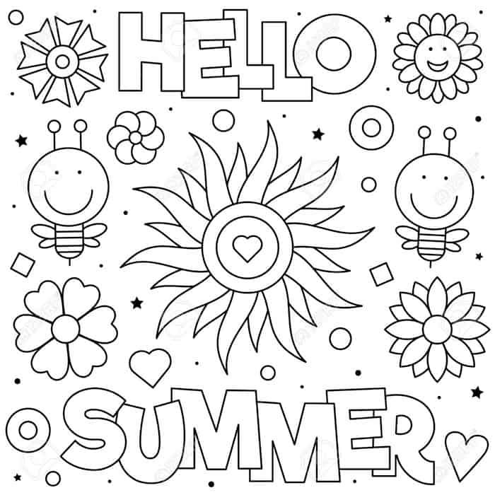 Hello Summer Coloring Pages Summer Coloring Pages Summer Coloring Sheets Coloring Pages For Boys