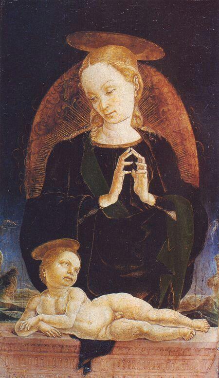 Cosme' Tura - Madonna col Bambino-1475- Roma Galleria Colonna