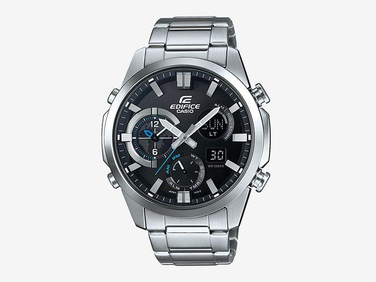Casio Edifice ERA-500D-1A — pánské hodinky, náramkové, analogové, digitální, luxusní, ocelový náramek, ocelové pouzdro