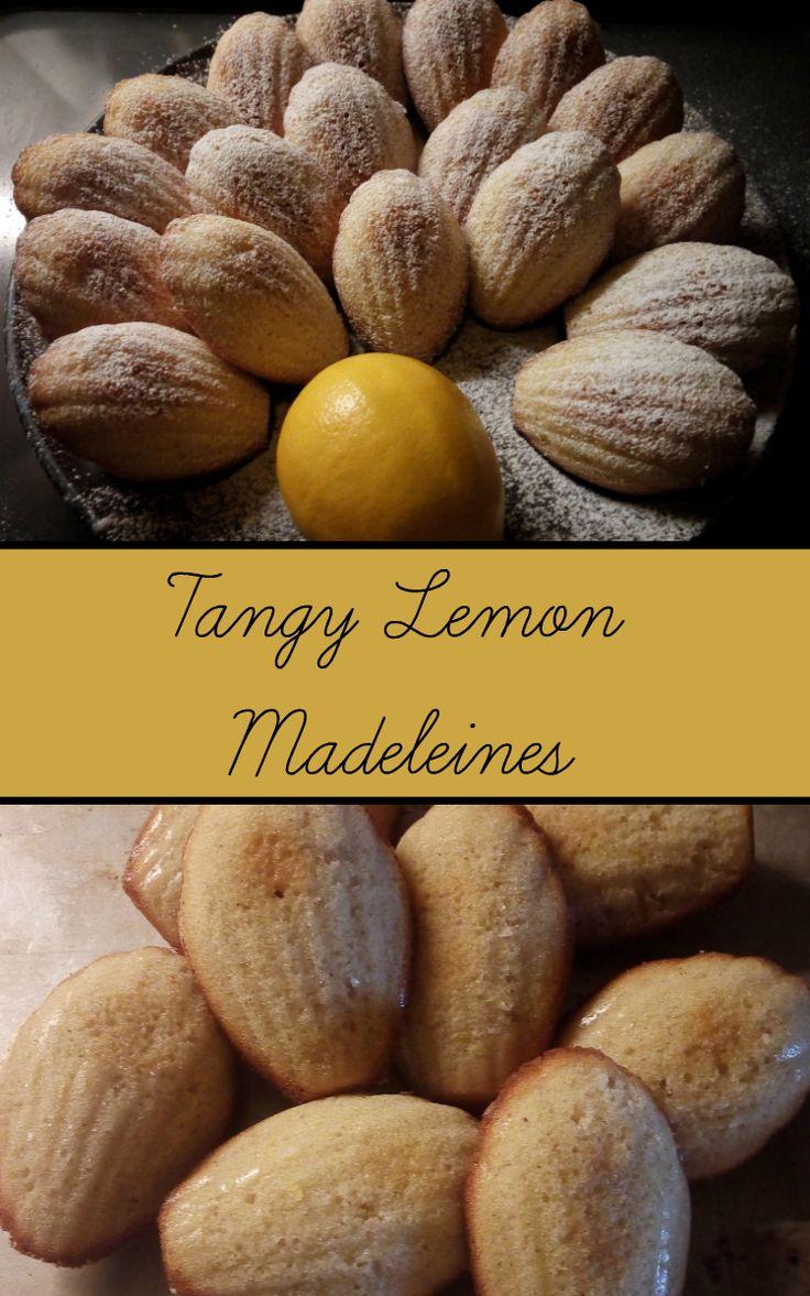 tangy light lemon madeleines