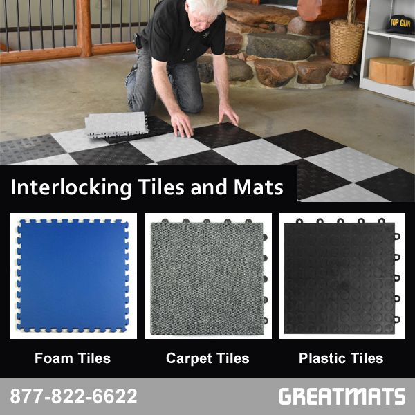 Interlocking And Modular Floor Tiles Are Easy To Install And Can Be Remove If Needed I Interlocking Flooring Basement Flooring Options Interlocking Floor Mats