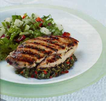Grilled Chicken with Mint, Orange, and Chile Chutney | Gourmet