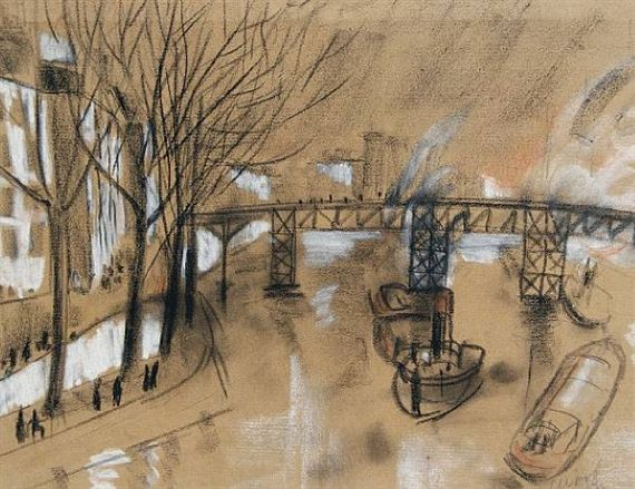 Christopher Wood, Footbridge over the Seine