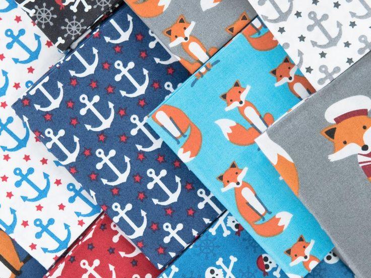 Robert Kaufman Fabulous Foxes by Andie Hanna Sailor Precut Fabric - None