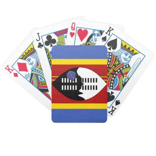 Swazi flag Playing Cards