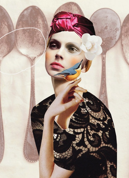 Magic Fairy by Peggy Wolf: Fashion Collage, Art Collage, Fashion Illustration, Wolves, Collage Idea