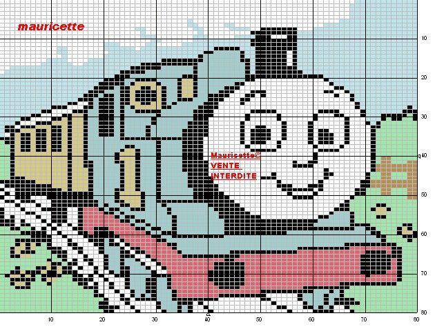 Thomas Tank Engine Perler Bead