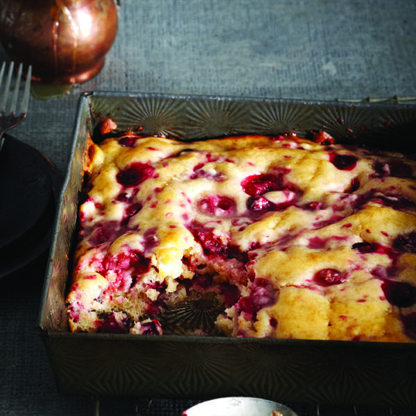 Raspberries add a dose of antioxidants and give this dessert its sweet-tart taste. Drizzle whisky-butter sauce over warm cake and top with whipped cream.