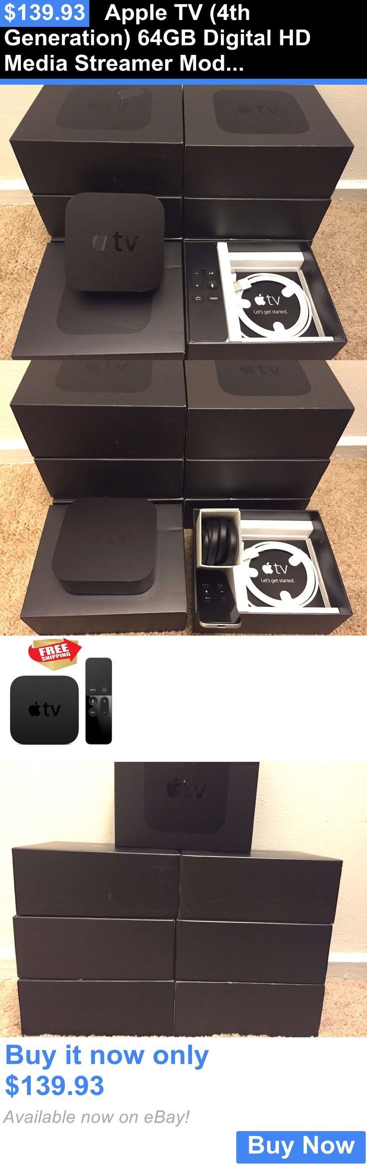 electronics: Apple Tv (4Th Generation) 64Gb Digital Hd Media Streamer Model BUY IT NOW ONLY: $139.93