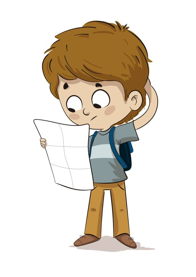 Lost Child Looking At A Map Losing A Child Cartoon Kids Kids Clipart