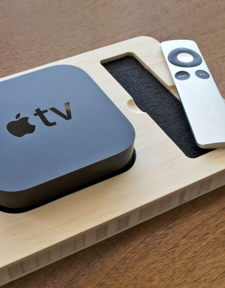 Apple TV Station - New Apple TV (I'll make the holder with some of my pine wood :))