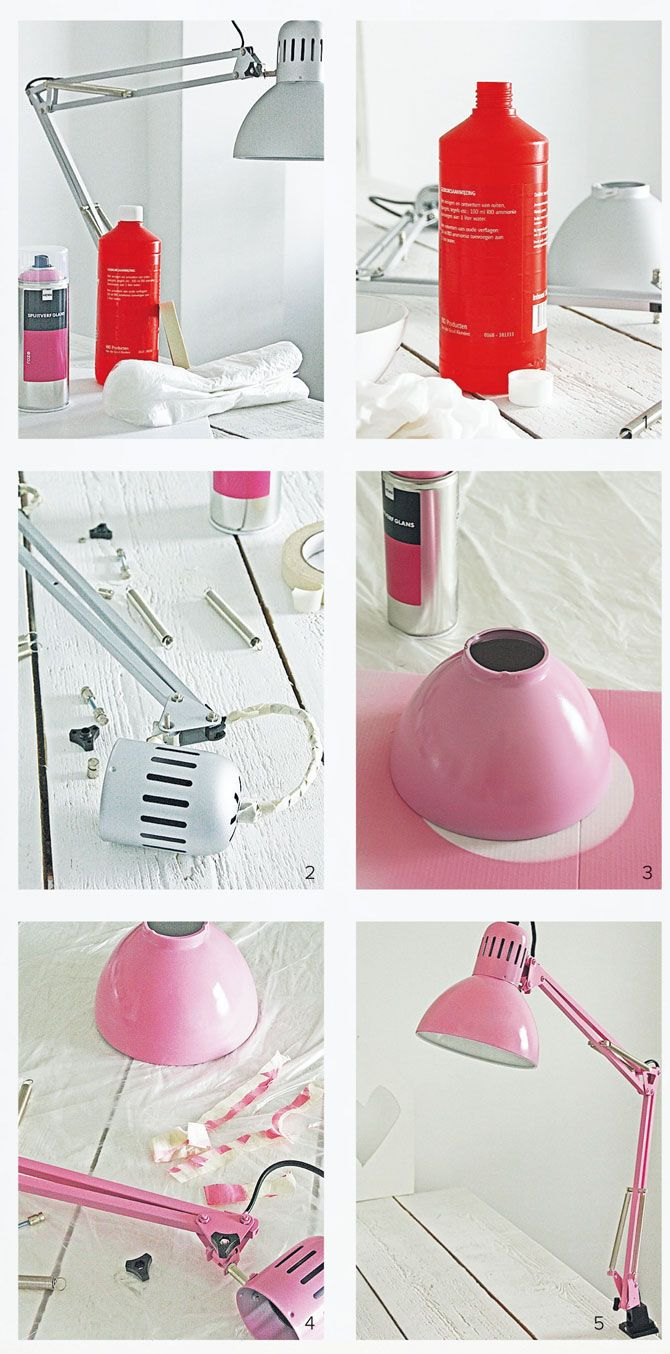 #DIY Painting a lamp -#101woonideeen.nl - Dutch interior and crafts magazine