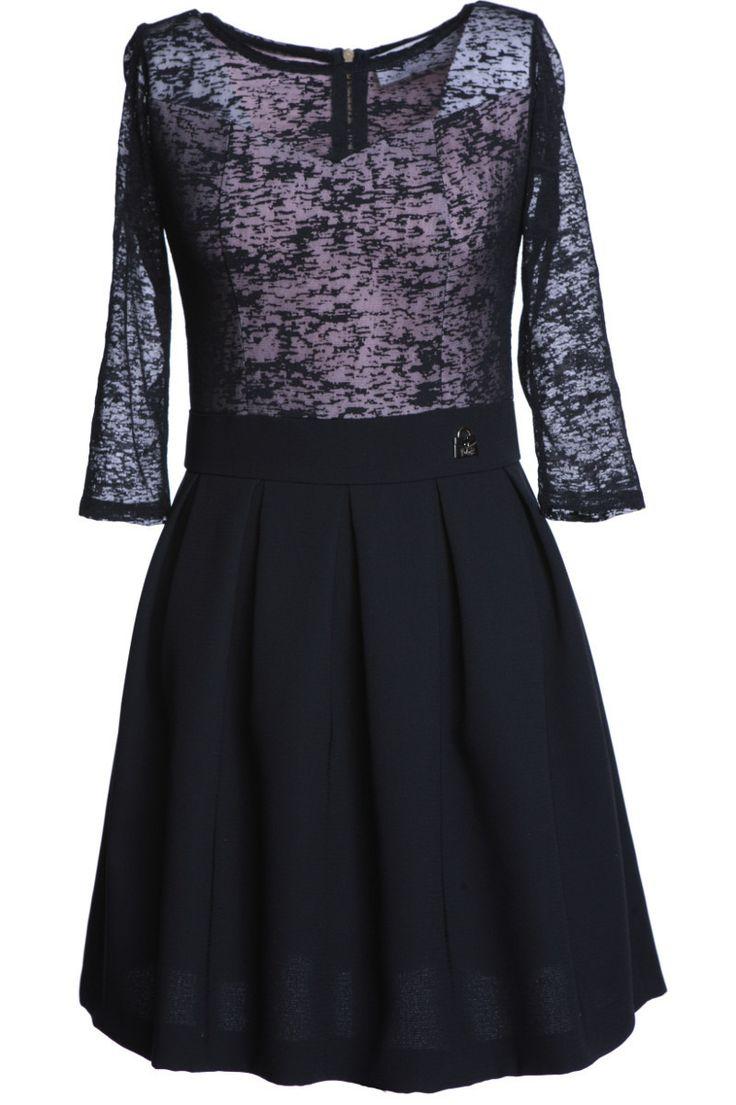 Sukienka FSU489 CZARNY | Sukienki \ Sukienki wizytowe Sukienki \ Sukienki koktajlowe Sukienki \ Sukienki na studniówkę Sukienki \ Sukienki na wesele Sukienki \ Mini | Suknie Wizytowe | Suknie Wieczorowe | Garsonki | Fokus