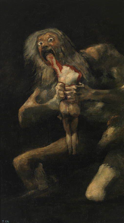 Francisco de Goya en El Prado: Saturno devorando a su hijo.