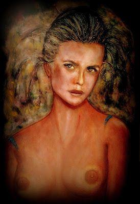 Afrodite - Dea Tavola; volto con rilievi in cera d'api. by P. Fundarò