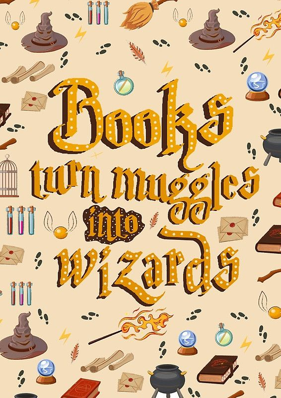 Books turn muggles into wizards notebook Harry Potter