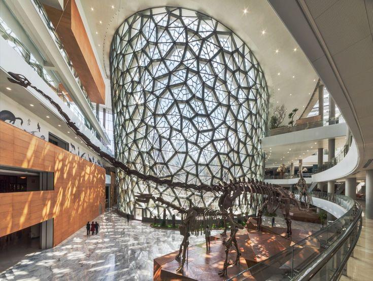 O design do local foi inspirado na estrutura celular das plantas.