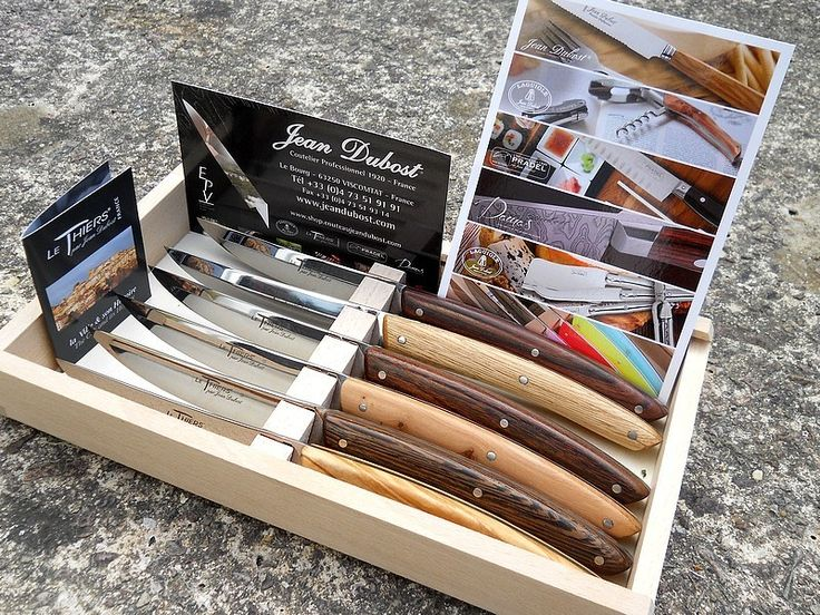 Les thiers de table en bois mixés de Jean Dubost...photo de Sébastien, blog les couteaux et moi