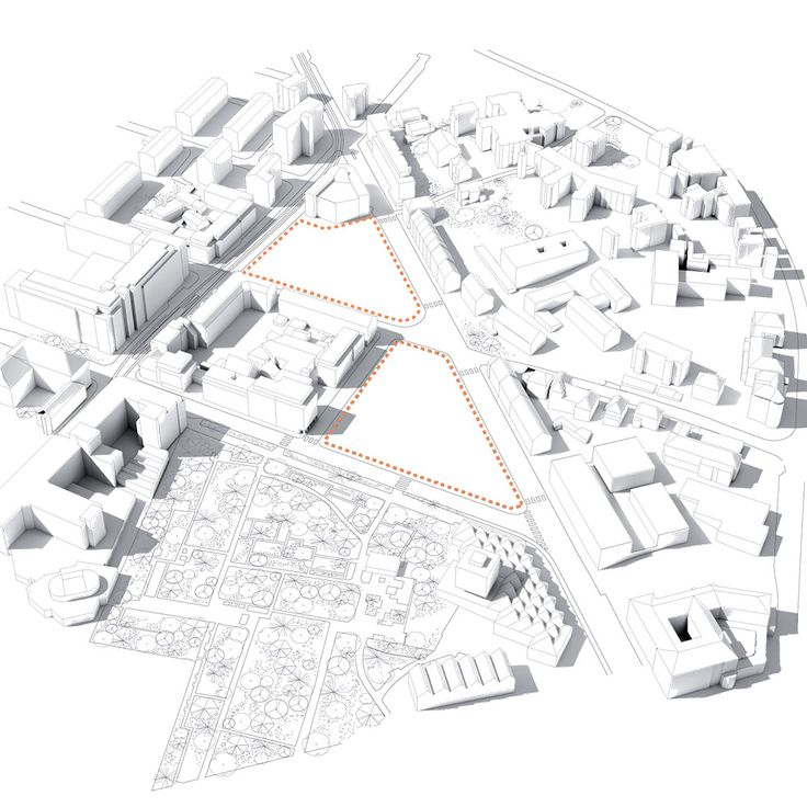Diagrams of Duale Hochschule show how the building will support the rich and active urban life in Stuttgart by leaving room for new urban spaces in the form of three squares, which are freely accessible to the public. The atrium in the building's center is created as a social meeting place which ties together the learning environment – like an urban village. It helps facilitate orientation for the building's users and visitors and, along with the spiral staircase that goes all the way to the…