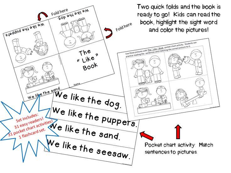 Kindergarten Calendar Pocket Chart : Reading street kindergarten sight word readers and pocket