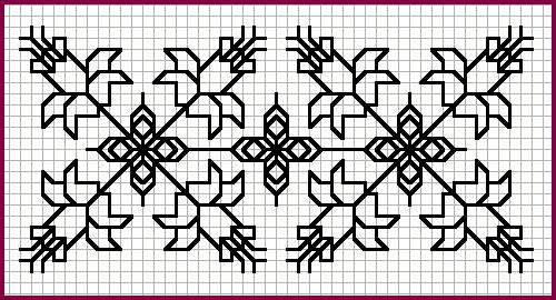 Patrón Blackwork - narcisos [9K]
