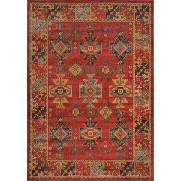 Home Decorators Collection Classic Red 5 Ft. 2 In. X 7 Ft. 6 In. Area Rug
