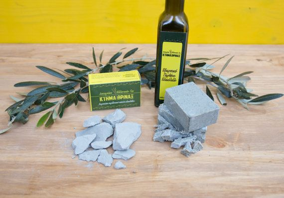 Green clay soap pure Greek olive oil soap handmade by KtimaThrinax