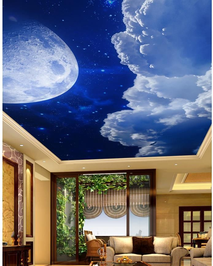 3d Wallpaper Mural Night Clouds Star Sky Wall Paper: Best 25+ Wallpaper Ceiling Ideas On Pinterest