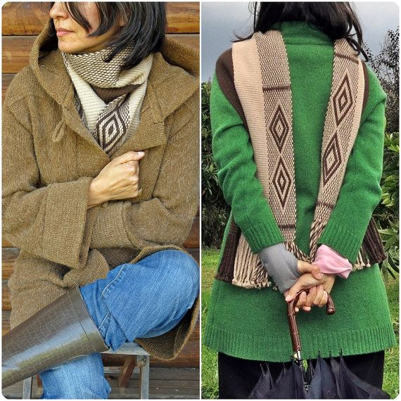 Bufanda de alpaca echarpe chal unisex moda de por TelaresNUEVOMUNDO