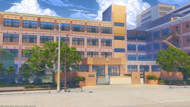 Anime School Building Clannad Anime School Clean By Night Wolf23