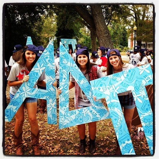 Alpha Delta Pi Bid Day #AlphaDeltaPi #ADPi #BidDay #letters #sorority