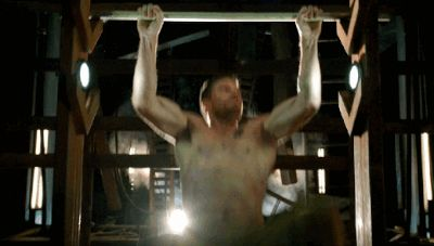 Pin for Later: Shirtless Pull-Ups and 20 Other Reasons Arrow Is TV's Sexiest Show His secret? These completely INSANE pull-ups.