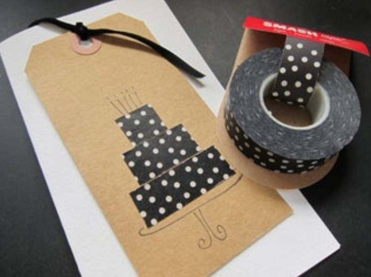 washi tape home made card crafting
