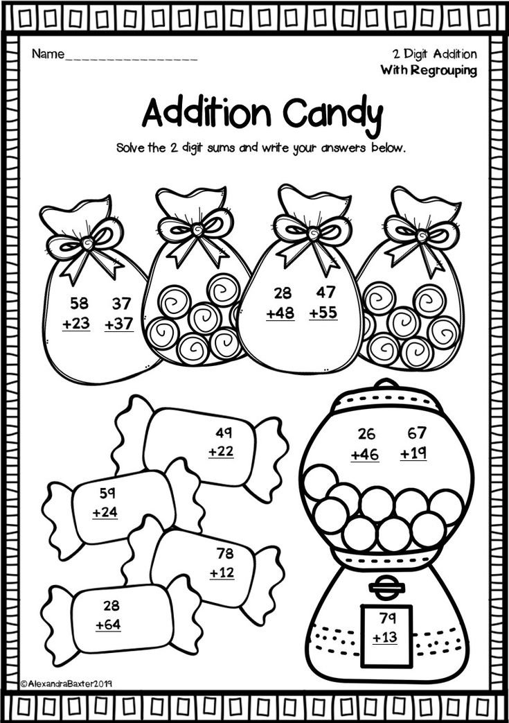 Two Digit Addition Worksheets (With Regrouping) Fun math