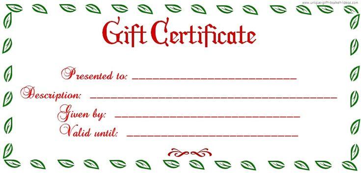 free printable blank gift certificate