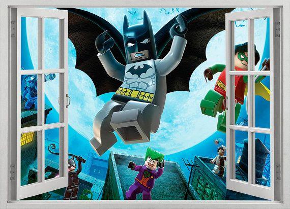 Sticker mural de Batman Lego vinyle auto-adhésif par GalsStudio